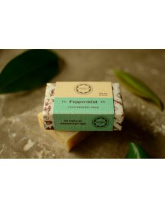 Horeca Soaps Peppermint Cold Process Soap all-natural and handmade 100 gm