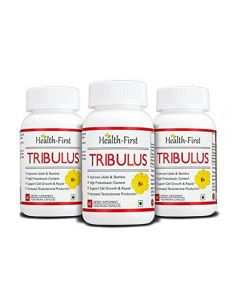 Testosterone Booster by Health-first Tribulus Terrestris - 60 Count 45% Saponins - Highest Purity on the Market - 1600mg Maximum Strength Daily Serving Tribulus (60 capsules) (180 Capsules)
