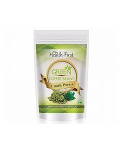 Health First Green Coffee Beans Decaffeinated & Unroasted Arabica Beans For Weight Loss 200 Grams Contains Chlorogenic Acid