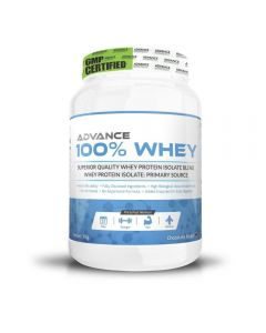 Advance Nutratech Advance 100% Whey Protein Supplement Chocolate Flavored Powder 1 Kg