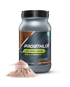 Proathlix High Carbs Lean Mass Gainer, Instant Mixability, Chocolate Flavor - 1 kg