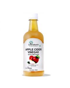 La Nature's Apple Cider Vinegar with Mother   Raw, Unfiltered, Undiluted   500 ml