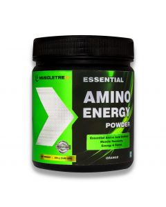Muscletrex Essential Amino Energy Powder, Orange- 300gm (0.66 lbs)