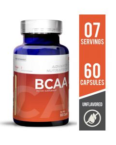 Advance Nutratech BCAA 2:1:1 Supplement Unflavored 60 Capsules