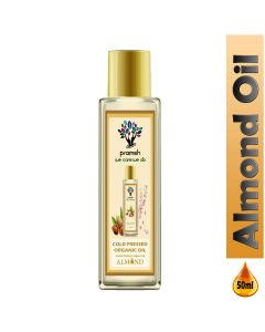 Pramsh Cold Pressed Almond Oil   Rich in Vitamin - E for Healthy Skin , Hair and Body - 50ml