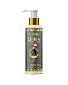 Madilu Organics Onion Shampoo With 10 Essential Herbs - 200 ml