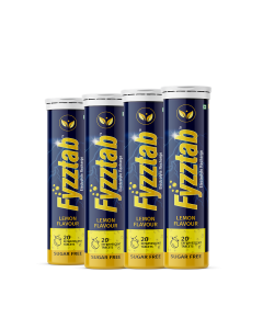 Fyzztab Electrolyte Recharge and Hydration Energy Drink – 80 Effervescent tablets (Lemon)