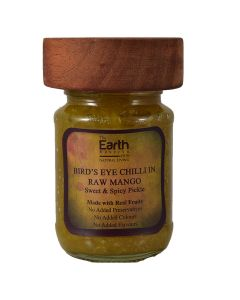 The Earth Reserve All Natural Bird's Eye Chilli in Raw Mango, Sweet & Spicy Pickle -150 gm