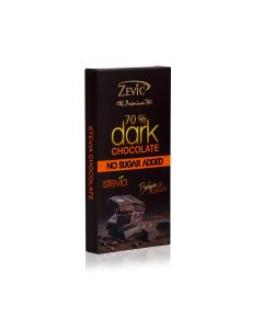 Zevic 70% Dark Belgian Chocolate with Stevia - 96 gm
