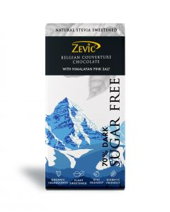 Zevic 70% Dark Belgian Couverture Chocolate with Himalayan Pink Salt - 90 gm