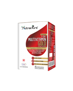 Nutree Pure Max Potency Multivitamin Gold with Omega-3, Antioxidant & Natural Extract Ginseng, Ginkgo Biloba Extract - 90 Caps