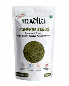Madilu Organics Pumpkin Seeds Rosted - 250 gm
