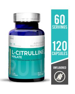 Advance Nutratech Citrulline Malate Supplement Unflavored 120 Capsules