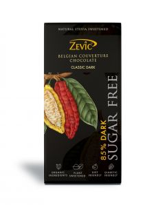Zevic 85% Dark Belgian Couverture Chocolate - 90 gm