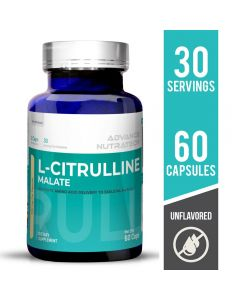 Advance Nutratech Citrulline Malate 2:1 Supplement Unflavored 60 Capsules