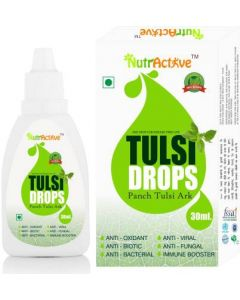 NutrActive Tulsi Drops (Panch Tulsi Ark) - 30ml | Natural Immunity Booster