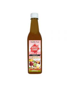 Health first Raw Apple Cider Vinegar - 500 ml - with strand of mother - Unfiltered and unpasturised ,high quality cider at low price (ACV with (H,G,G,L) pack of 1
