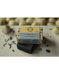 Horeca Soaps Charcoal Cold Process Soap with lime peel oil (coconut shell based charcoal) 100 gm