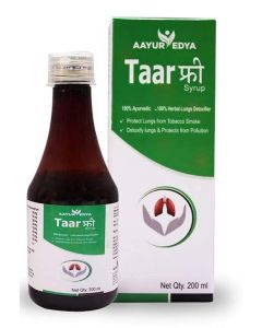 AAYURVEDYA Taar Free Syrup 200 ml - Best Lungs Detox for Smokers, Reduce Chronic Cough