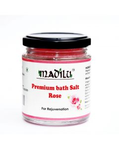 Madilu Organics Premium Epsom Bath Salt - Rose (For Relaxation & Pain Relief) 185 gm