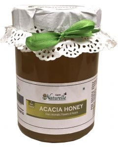Farm Naturelle (Farm Natural Produce) Pure Raw Natural Unprocessed Acacia Forest Honey - 815 Grams