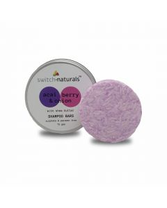 Switch Naturals Shampoo Bar - Acai Berry & Onion Extract With Shea Butter 75 gms