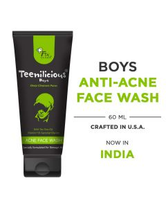 Teenilicious Oil Control Deep Cleanses Anti Acne Pimples, Blackhead Remover Face Wash For Men and Boys with Tea Tree Oil Vitamin F 60 g