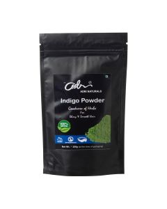 Adri Naturals Indigo Powder (100% Natural Indigo Leaf Powder, No added color or preservatives) - 100g, Pack of 2