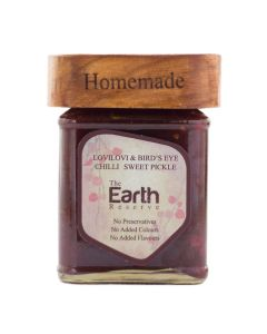 The Earth Reserve All Natural Lovilovi & Bird's Eye Chilly, Sweet & Spicy Pickle - 150 gm