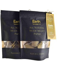 The Earth Reserve All Natural Multi Millet Papad (Pack of 2) - 100gm