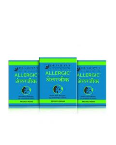 Dr. Vaidya's Allergic Pills - Ayurvedic relief from Allergy & Cold - Pack of 3