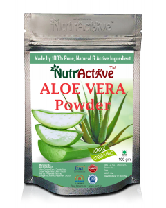 NutrActive 100% Natural Aloevera Powder (Aloe barbadenis) for Face, Skin Care and Hair Care (100 g)