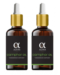 Alpha Essenticals Camphor Essential Oil, 100% Pure Aroma, Therapeutic Grade, Pack of 2, 15ml Each