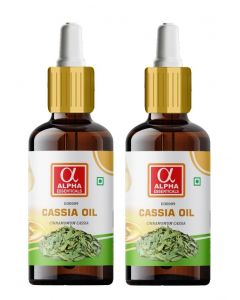 Alpha Essenticals Cassia Essential Oil [Cinnamomum cassia], 100% Pure Aroma, Therapeutic Grade, Pack of 2, 15ml Each