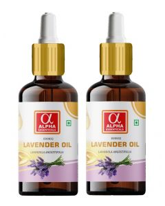Alpha Essenticals Lavender Essential Oil [Lavandula angustifolia], 100% Pure Aroma, Therapeutic Grade, Pack of 2, 15ml Each