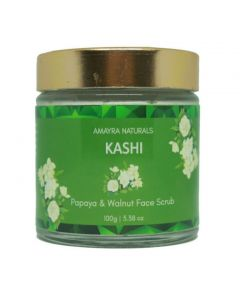 Amayra Naturals Kashi - Papaya Walnut Face Scrub 100gm