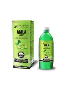 Dr. Vaidya's Amla Juice - Supports Immunity , Energy & Detoxification (1 LTR) - Vegetarian , Zero Added Sugar