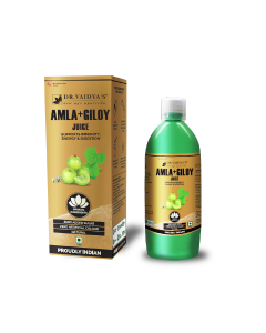 Dr. Vaidya's Amla and Giloy Juice - Supports Immunity , Energy & Digestion (1 LTR) - Vegetarian , Zero Added Sugar