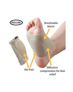 PEECURE Orthotic Plantar Fasciitis Silicon Gel Foot Arch Support 1 pair