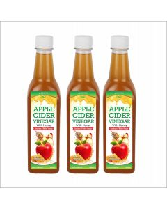 Apple cider with Honey with mother - 500 ml  Pack of 3
