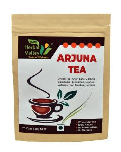 Indian Herbal Valley Arjuna 50 gms Herbal Green Tea for Healthy Heart Functioning