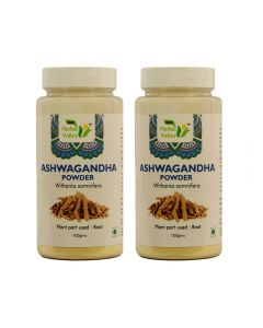 Indian Herbal Valley Ashwagandha Powder - 100 gms (Pack of 2) Withania Somnifera - For Vigor and vitality