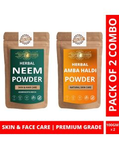 Ayur Blessing Neem and Amba Haldi Powder Skin Care Products Combo, Face Pack, Skin Care (100 Gram * 2)