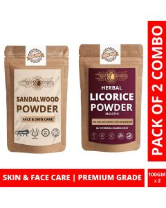 Ayur Blessing Chandan and Licorice Powder Skin Care Products Combo, Face Pack, Skin Care (100 Gram * 2)