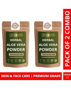 Ayur Blessing Aloe Vera Leaf Powder Skin Care Products Combo, Face Pack, Skin Care (100 Gram X 2)