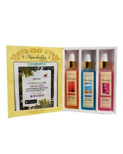 Ayurshakha Naturals Perfumed Body Mist Blooming Passion + Sea Breeze + Secret Crush (Combo Pack)