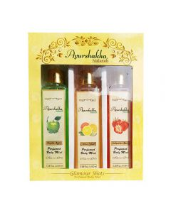 Ayurshakha Naturals Perfumed Body Mist Citrus Splash + Exotic Appy + Seductive Berry (Combo Pack)