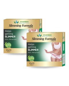 Ayushman Slimming Formula Tablets - 100 Tabs (Pack of 2)