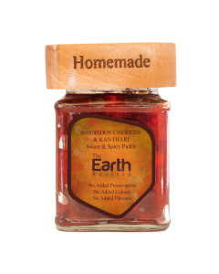 The Earth Reserve All Natural Barbados Cherries & Kanthari, Sweet & Spicy Pickle - 300gm