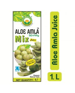 Basic Ayurveda Aloe Amla 50-Fifty Mix Juice 1000ml